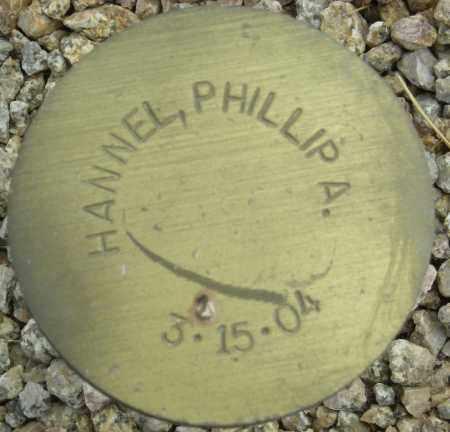 HANNEL, PHILLIP A. - Maricopa County, Arizona | PHILLIP A. HANNEL - Arizona Gravestone Photos