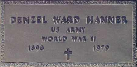 HANNER, DENZEL WARD - Maricopa County, Arizona | DENZEL WARD HANNER - Arizona Gravestone Photos
