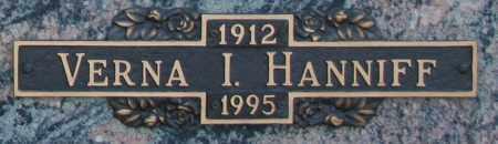 HANNIFF, VERNA I - Maricopa County, Arizona | VERNA I HANNIFF - Arizona Gravestone Photos