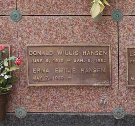 HANSEN, DONALD WILLIS - Maricopa County, Arizona | DONALD WILLIS HANSEN - Arizona Gravestone Photos