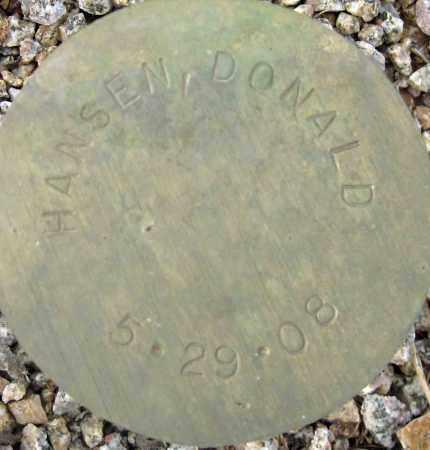 HANSEN, DONALD - Maricopa County, Arizona   DONALD HANSEN - Arizona Gravestone Photos