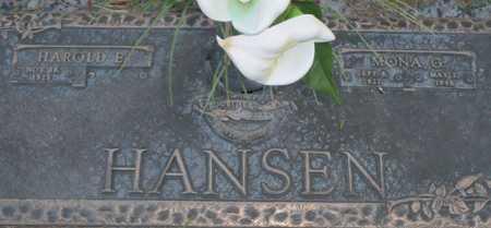 HANSEN, HAROLD E. - Maricopa County, Arizona | HAROLD E. HANSEN - Arizona Gravestone Photos