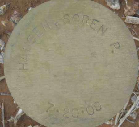 HANSEN, SOREN P. - Maricopa County, Arizona | SOREN P. HANSEN - Arizona Gravestone Photos