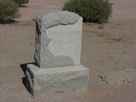 NELSON HANSON, ANNIE - Maricopa County, Arizona | ANNIE NELSON HANSON - Arizona Gravestone Photos
