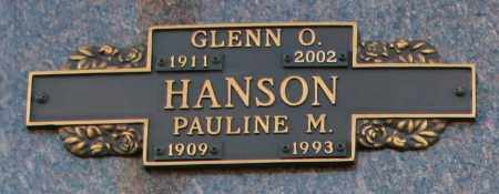 HANSON, GLENN O - Maricopa County, Arizona | GLENN O HANSON - Arizona Gravestone Photos