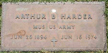 HARDER, ARTHUR B - Maricopa County, Arizona | ARTHUR B HARDER - Arizona Gravestone Photos