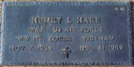 HARE, HENRY L. - Maricopa County, Arizona | HENRY L. HARE - Arizona Gravestone Photos