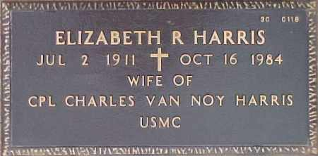 HARRIS, ELIZABETH R. - Maricopa County, Arizona   ELIZABETH R. HARRIS - Arizona Gravestone Photos