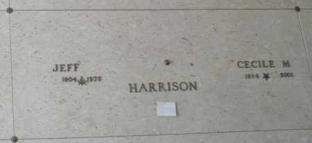 HARRISON, JEFF - Maricopa County, Arizona | JEFF HARRISON - Arizona Gravestone Photos