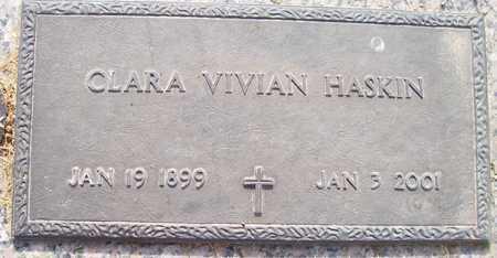 HASKIN, CLARA VIVIAN - Maricopa County, Arizona | CLARA VIVIAN HASKIN - Arizona Gravestone Photos