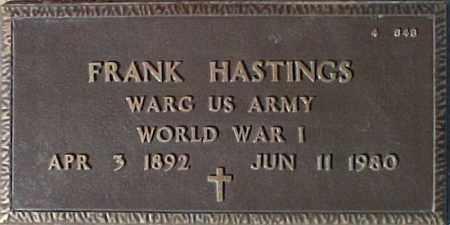 HASTINGS, FRANK - Maricopa County, Arizona | FRANK HASTINGS - Arizona Gravestone Photos