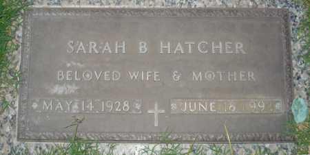 HATCHER, SARAH B. - Maricopa County, Arizona   SARAH B. HATCHER - Arizona Gravestone Photos