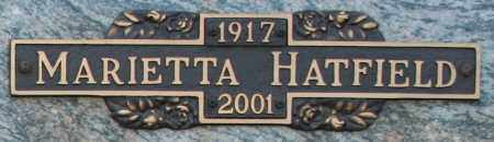 HATFIELD, MARIETTA - Maricopa County, Arizona | MARIETTA HATFIELD - Arizona Gravestone Photos