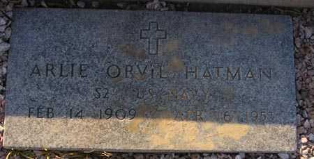 HATMAN, ARLIE ORVIL - Maricopa County, Arizona | ARLIE ORVIL HATMAN - Arizona Gravestone Photos