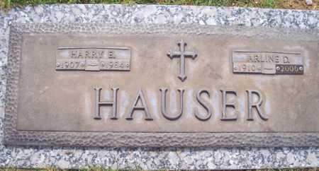 HAUSER, ARLINE D. - Maricopa County, Arizona   ARLINE D. HAUSER - Arizona Gravestone Photos