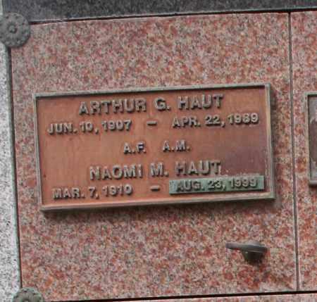 HAUT, ARTHUR G. - Maricopa County, Arizona | ARTHUR G. HAUT - Arizona Gravestone Photos