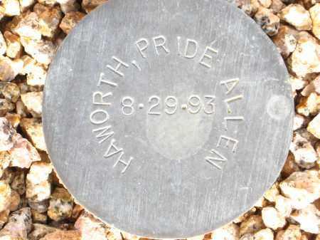 HAWORTH, PRIDE ALLEN - Maricopa County, Arizona | PRIDE ALLEN HAWORTH - Arizona Gravestone Photos