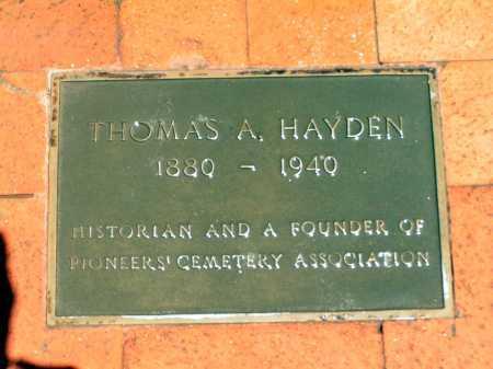HAYDEN, THOMAS - Maricopa County, Arizona | THOMAS HAYDEN - Arizona Gravestone Photos