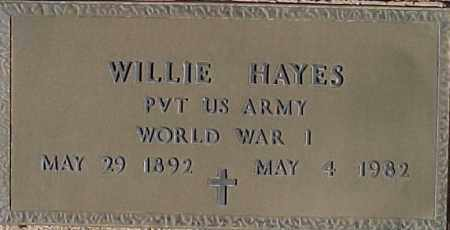 HAYES, WILLIE - Maricopa County, Arizona | WILLIE HAYES - Arizona Gravestone Photos