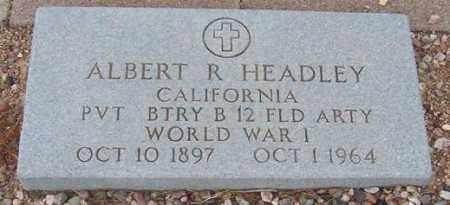 HEADLEY, ALBERT R. - Maricopa County, Arizona | ALBERT R. HEADLEY - Arizona Gravestone Photos