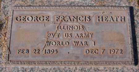 HEATH, GEORGE FRANCIS - Maricopa County, Arizona | GEORGE FRANCIS HEATH - Arizona Gravestone Photos