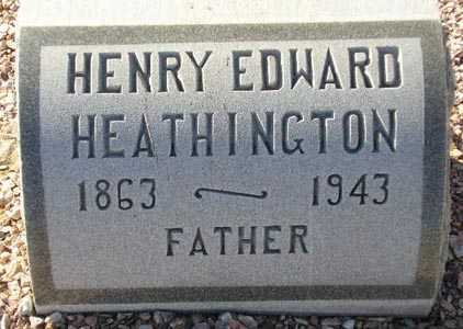 HEATHINGTON, HENRY EDWARD - Maricopa County, Arizona | HENRY EDWARD HEATHINGTON - Arizona Gravestone Photos