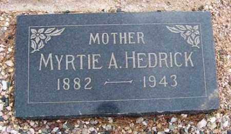 PELPHREY HEDRICK, MYRTLE ALICE (MERTIE) - Maricopa County, Arizona | MYRTLE ALICE (MERTIE) PELPHREY HEDRICK - Arizona Gravestone Photos
