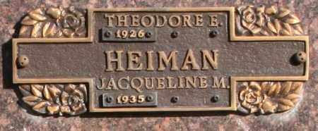 HEIMAN, THEODORE E - Maricopa County, Arizona | THEODORE E HEIMAN - Arizona Gravestone Photos