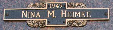 HEIMKE, NINA M - Maricopa County, Arizona | NINA M HEIMKE - Arizona Gravestone Photos