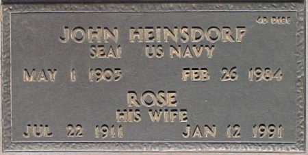 HEINSDORF, ROSE - Maricopa County, Arizona   ROSE HEINSDORF - Arizona Gravestone Photos