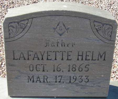 HELM, LAFAYETTE - Maricopa County, Arizona | LAFAYETTE HELM - Arizona Gravestone Photos