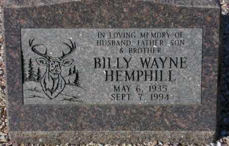 HEMPHILL, BILLY WAYNE - Maricopa County, Arizona | BILLY WAYNE HEMPHILL - Arizona Gravestone Photos