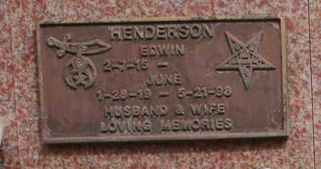 HENDERSON, JUNE - Maricopa County, Arizona | JUNE HENDERSON - Arizona Gravestone Photos