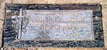 HENDERSON, MILDRED - Maricopa County, Arizona | MILDRED HENDERSON - Arizona Gravestone Photos