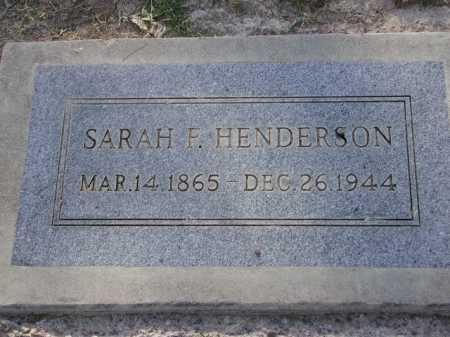 HENDERSON, SARAH F. - Maricopa County, Arizona | SARAH F. HENDERSON - Arizona Gravestone Photos