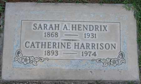 HENDRIX, SARAH A - Maricopa County, Arizona | SARAH A HENDRIX - Arizona Gravestone Photos