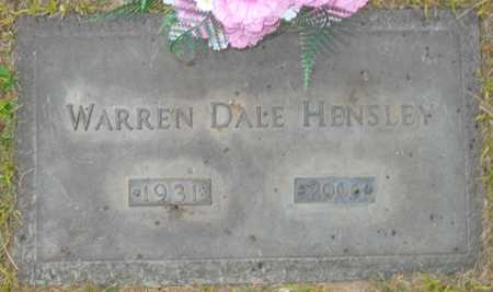 HENSLEY, WARREN DALE - Maricopa County, Arizona | WARREN DALE HENSLEY - Arizona Gravestone Photos