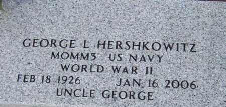 HERSHKOWITZ, GEORGE L. - Maricopa County, Arizona | GEORGE L. HERSHKOWITZ - Arizona Gravestone Photos