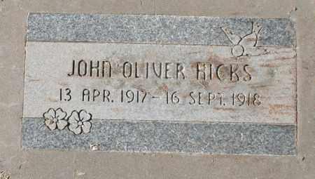 HICKS, JOHN OLIVER - Maricopa County, Arizona | JOHN OLIVER HICKS - Arizona Gravestone Photos
