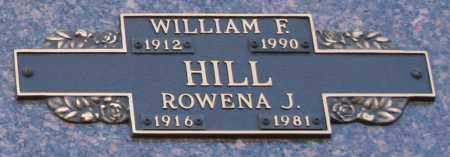 HILL, WILLIAM F - Maricopa County, Arizona | WILLIAM F HILL - Arizona Gravestone Photos
