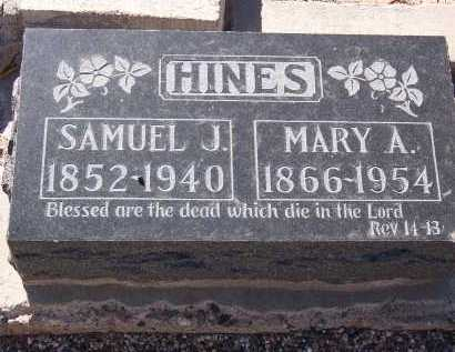 HINES, SAMUEL J. - Maricopa County, Arizona | SAMUEL J. HINES - Arizona Gravestone Photos