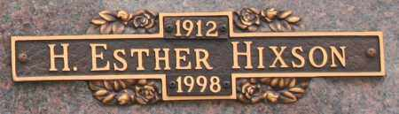 HIXSON, H. ESTHER - Maricopa County, Arizona   H. ESTHER HIXSON - Arizona Gravestone Photos