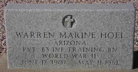 HOEL, WARREN MARINE - Maricopa County, Arizona   WARREN MARINE HOEL - Arizona Gravestone Photos