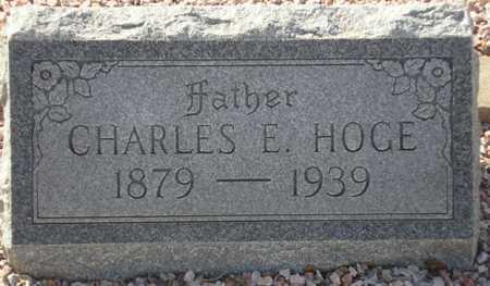 HOGE, CHARLES E. - Maricopa County, Arizona | CHARLES E. HOGE - Arizona Gravestone Photos