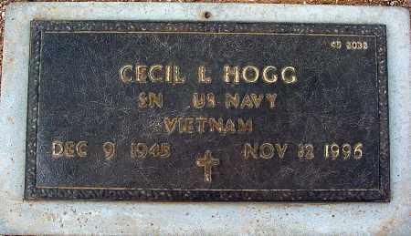 HOGG, CECIL L - Maricopa County, Arizona | CECIL L HOGG - Arizona Gravestone Photos