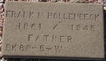 HOLLENBECK, FRANK M. - Maricopa County, Arizona | FRANK M. HOLLENBECK - Arizona Gravestone Photos