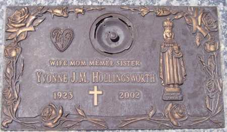 HOLLINGSWORTH, YVONNE J. M. - Maricopa County, Arizona | YVONNE J. M. HOLLINGSWORTH - Arizona Gravestone Photos