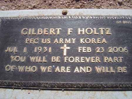 HOLTZ, GILBERT F. - Maricopa County, Arizona   GILBERT F. HOLTZ - Arizona Gravestone Photos