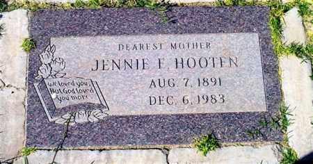 HOOTEN, JENNIE E. - Maricopa County, Arizona | JENNIE E. HOOTEN - Arizona Gravestone Photos