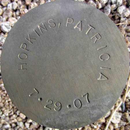 HOPKINS, PATRICIA - Maricopa County, Arizona | PATRICIA HOPKINS - Arizona Gravestone Photos